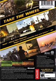 Box back cover for Driv3r on the Microsoft Xbox.