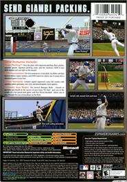 Box back cover for ESPN Major League Baseball on the Microsoft Xbox.