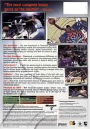 Box back cover for ESPN NBA 2K5 on the Microsoft Xbox.