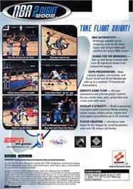 Box back cover for ESPN NBA 2Night 2002 on the Microsoft Xbox.