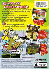 Box back cover for Ed, Edd n Eddy: The Mis-Edventures on the Microsoft Xbox.