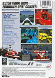 Box back cover for F1 Career Challenge on the Microsoft Xbox.