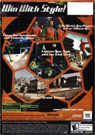 Box back cover for FIFA Street on the Microsoft Xbox.