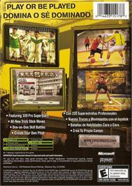 Box back cover for FIFA Street 2 on the Microsoft Xbox.