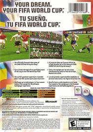 Box back cover for FIFA World Cup: Germany 2006 on the Microsoft Xbox.