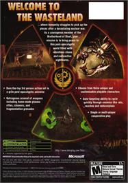 Box back cover for Fallout: Brotherhood of Steel on the Microsoft Xbox.