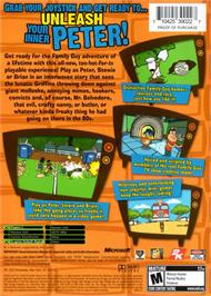 Box back cover for Family Guy Video Game on the Microsoft Xbox.