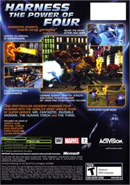 Box back cover for Fantastic 4 on the Microsoft Xbox.