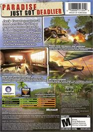 Box back cover for Far Cry: Instincts - Evolution on the Microsoft Xbox.