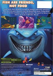Box back cover for Finding Nemo on the Microsoft Xbox.
