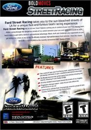 Box back cover for Ford Bold Moves Street Racing on the Microsoft Xbox.