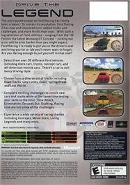 Box back cover for Ford Racing 2 on the Microsoft Xbox.