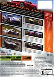 Box back cover for Forza Motorsport on the Microsoft Xbox.