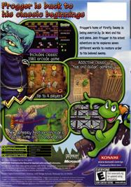 Box back cover for Frogger: Ancient Shadow on the Microsoft Xbox.