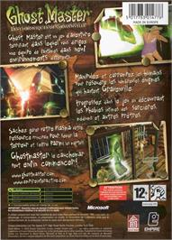 Box back cover for Ghost Master: The Gravenville Chronicles on the Microsoft Xbox.