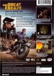 Box back cover for Great Escape on the Microsoft Xbox.