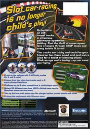 Box back cover for GrooveRider:  Slot Car Thunder on the Microsoft Xbox.