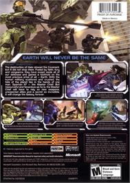 Box back cover for Halo 2 on the Microsoft Xbox.