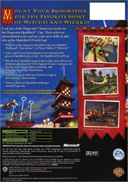 Box back cover for Harry Potter: Quidditch World Cup on the Microsoft Xbox.
