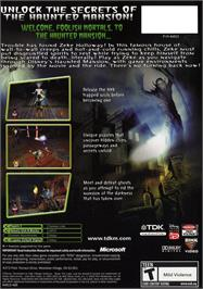 Box back cover for Haunted Mansion on the Microsoft Xbox.