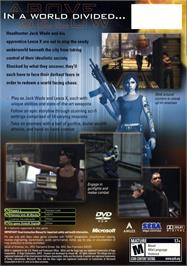 Box back cover for Headhunter: Redemption on the Microsoft Xbox.