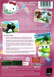 Box back cover for Hello Kitty: Roller Rescue on the Microsoft Xbox.