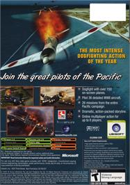 Box back cover for Heroes of the Pacific on the Microsoft Xbox.