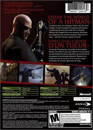 Box back cover for Hitman: Contracts on the Microsoft Xbox.