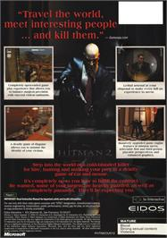 Box back cover for Hitman 2: Silent Assassin on the Microsoft Xbox.