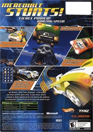 Box back cover for Hot Wheels: Stunt Track Challenge on the Microsoft Xbox.