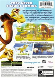 Box back cover for Ice Age 2: The Meltdown on the Microsoft Xbox.