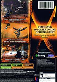 Box back cover for Iron Phoenix on the Microsoft Xbox.