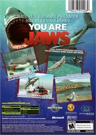 Box back cover for Jaws: Unleashed on the Microsoft Xbox.