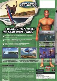 Box back cover for Kelly Slater's Pro Surfer on the Microsoft Xbox.