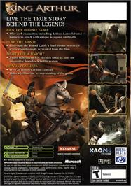 Box back cover for King Arthur on the Microsoft Xbox.