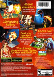 Box back cover for King of Fighters: Neowave on the Microsoft Xbox.