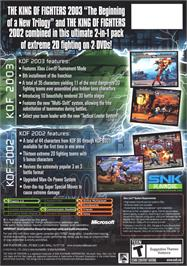 Box back cover for King of Fighters 2002/2003 on the Microsoft Xbox.