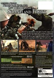 Box back cover for Kingdom Under Fire: The Crusaders on the Microsoft Xbox.