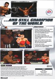 Box back cover for Knockout Kings 2002 on the Microsoft Xbox.