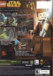 Box back cover for LEGO Star Wars: The Video Game on the Microsoft Xbox.