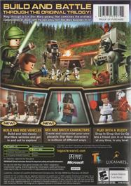 Box back cover for LEGO Star Wars 2: The Original Trilogy on the Microsoft Xbox.