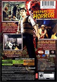 Box back cover for Land of the Dead: Road to Fiddler's Green on the Microsoft Xbox.