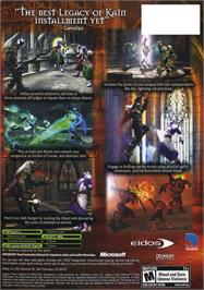 Box back cover for Legacy of Kain: Defiance on the Microsoft Xbox.
