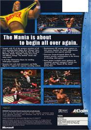 Box back cover for Legends of Wrestling on the Microsoft Xbox.