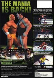 Box back cover for Legends of Wrestling 2 on the Microsoft Xbox.