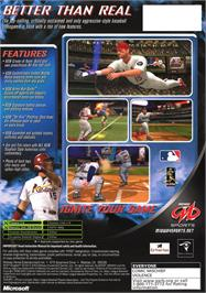 Box back cover for MLB SlugFest 20-04 on the Microsoft Xbox.