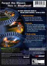 Box back cover for MLB Slugfest 2006 on the Microsoft Xbox.