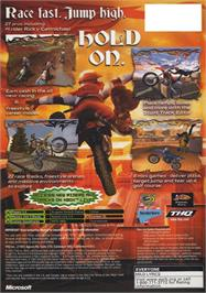 Box back cover for MX Superfly Featuring Ricky Carmichael on the Microsoft Xbox.
