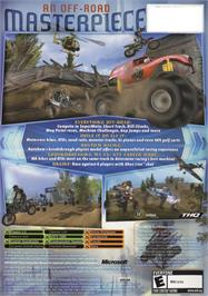 Box back cover for MX vs. ATV Unleashed on the Microsoft Xbox.