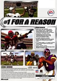 Box back cover for Madden NFL 2002 on the Microsoft Xbox.